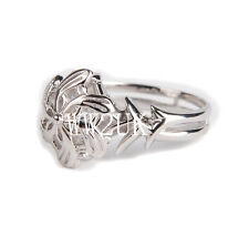 THE LORD OF THE RINGS GALADRIEL NENYA RING SILVERING RING IN SIZES