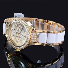 New Luxury Bling Crystal Quartz Lady Women Wrist Watch Silver Gold