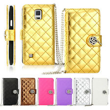 Gearonic Bling PU Leather Flip Wallet Case for Samsung Galaxy Note 4