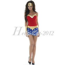 Women's Sexy Superhero Wonder Woman Outfit Costume Cosplay Party Dress M/L/XL