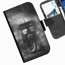 Dr Who Smoke Leather wallet phone case for iPhone Samsung Sony Huawei Blackberry