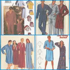 Mens Sleepwear Pajamas Nightshirt Robe Butterick Sewing Pattern Fathers Day UPIC