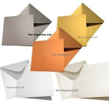 Large Square Pearlescent Card Blanks & Matching Envelopes 155mm, 6 inches