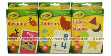 CRAYOLA* 36pc Learning FLASH CARDS For Kids COLORS+ADDITION (Boxed) *YOU CHOOSE*