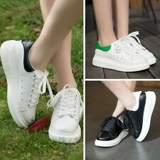Female New Sneakers Comfort Lace Up Platform Wedge Sports Slip On Shoes Trainers