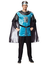 Adult Mens Medieval Royal Knight Costume Tudor King Historical Fancy Dress New