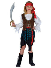 Child Caribbean Pirate Girl Outfit New Fancy Dress Costume Book Week Kids Outfit