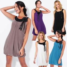 NEW Womens 1920's Short Pleated Dress Mini Sleeveless Tunic Shift Party Boho