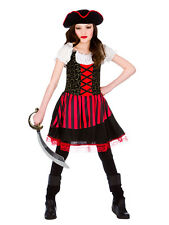 Pretty Pirate Girl Childrens Caribbean Fancy Dress Costume Book Week Outfit