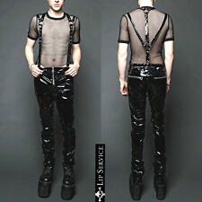 LIP SERVICE VINYL PVC HARNESS FETISH JEANS LATEX LOOK GOTHIC GOTH PUNK PANTS