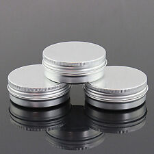 15g 100g Empty Silver Aluminum Lip Balm Cosmetic Tins Pots Jar Containers NEW
