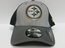 Pittsburgh Steelers Cap New Era 39Thirty Stretch Fit Fitted Hat Grayed Out Neo