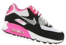Nike Air Max 90 GS Womens Girls Juniors Trainers White Black Pink Silver 345017