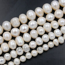 """Natural Freshwater Pearl Freeform Beads 14"""" Pick Size"""