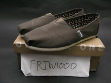 WOMENS TOMS CLASSIC CANVAS SLIP ON TARMAC OLIVE 10006173