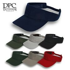 Sun Visor Hat Plain Blank Solid Color Cap Cotton DPC Outdoor Adjustable Golf