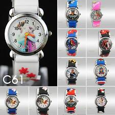 10PCS Girl in car and other 3D Mario cartoon quartz watch children holiday gift