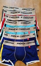 Andrew Christian Boxer w Show It Bulge Cup Enhancer Pick a Size!