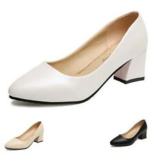 Fashion Pointed Toe Block High Heels Pumps Court Office Lady Work Party Shoes