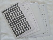 Korean Keyboard Sticker - Black / White / Transparent 108 keys high quality