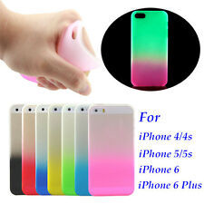 Ultrathin Slim Luminous Glow in The Dark Case Cover Skin For Apple iPhone 4 5 6