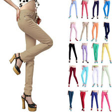 Pants Trousers Solid Jeans Casual Slim Stretch Jeggings Women OL Pencil Skinny
