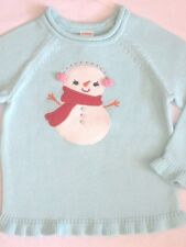 Gymboree Cozy Cutie Girls Sweater 3 4 5 6 7 8 Blue Snowman Pullover Twins New