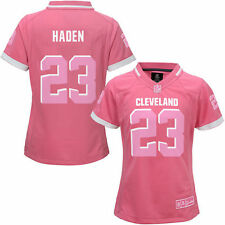 Joe Haden Cleveland Browns Girls Youth Bubble Gum Jersey - Pink - NFL