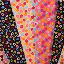 Small Funky Floral Fabric 100% Cotton Fat Quarter, Half Metre or Metre.