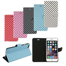 New Polka Dot pattern Flip Stand Cover Case Skin For Apple iPhone 6 Plus
