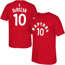 DeMar DeRozan #10 Toronto Raptors adidas Net Number T-Shirt - Red - NBA