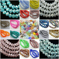 Free Shipping Glass Crystal Faceted Rondelle Spacer Loose Beads 3mm/4mm/6mm/8mm