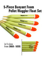 Foam Pellet Waggler Floats Set of 5 x Carp, Commercial, Match Fishing (UKF11)