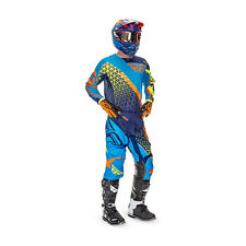 Fly Racing Motocross Pants + Jersey 2016 - Kinetic Trifecta - blue-orange