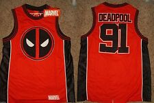 Deadpool Marvel Comics Basketball Jersey Shirt Nwt