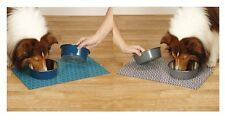 Dog Dishes - Lifestyle Stay-On Mat & Bowl Dining Trios Non Skid 32 ounce