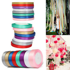 25 Yards Silk Grosgrain Surface Ribbon 6/10/25mm Wedding Birthday Party Craft