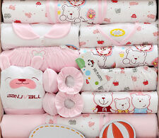 18pcs/set Pink bears Cotton newborn baby clothes baby girl Clothing