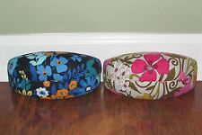 Vera Bradley MIDNIGHT BLUES or TEA GARDEN Clamshell Eyeglass SUNGLASS CASE