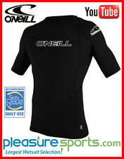 O'Neill Men's Skins Rashguard Short Sleeve Rash guard 50+ UV Protection - Black