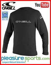 O'Neill Basic Skins Long Sleeve Men's Rashguard Tee 50+ UV Protection TOP RATED