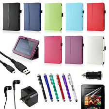 For 2012 Amazon Kindle Fire HD 17.8cm Folio PU Leather Flip Stand Case Smart