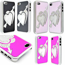 Fashion Heart Bling Hard  Phone Cover Case Protective For Apple Iphone 4 4G 4S