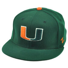 NCAA Miami Hurricanes Zephyr Canes UM Flat Bill Green Hat Cap Fitted Size