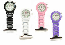 Personalised Nurses or Beauticians Fob Watch, Pulse Count & Backlight, Engraved