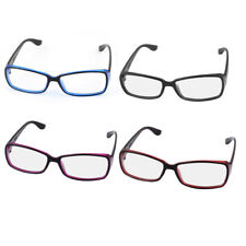 Plastic Arm Single Bridge Clear Lens Plain Glasses Eyeglasses Plano Spectacle