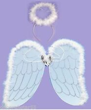 Angel Wings and Halo Christmas Nativity Fancy Dress Costume One Size