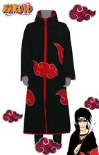 Naruto Ninja Akatsuki Itachi Cloak Uniform Costume Cosplay Size M/ L/ XL/ XXL