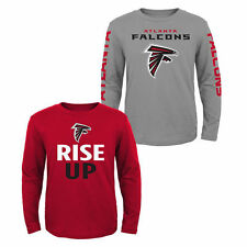 Atlanta Falcons Youth Long Sleeve T-Shirt 2-Pack - Red/Gray - NFL