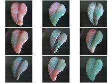 36mm Hand carved Indian agate leaf  pendant bead